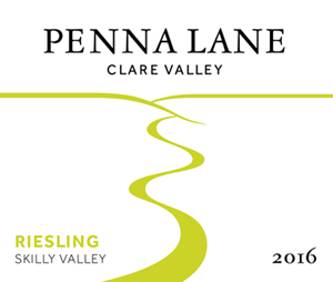 Penna Lane 2016 Skilly Valley Riesling label