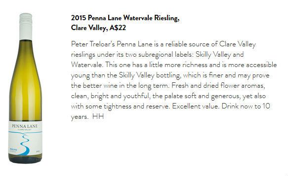Screen capture of Gourmet Traveller Wine article