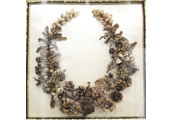 Floral wreath made with human hair